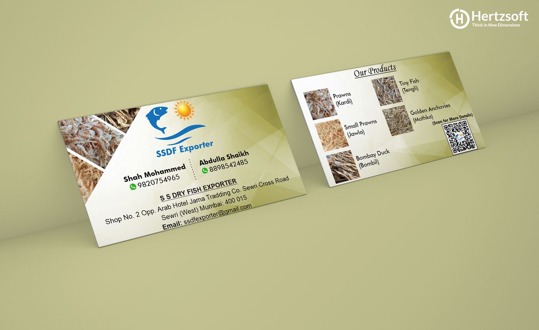 SSDF Exporters Visiting Card